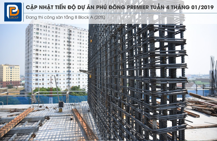 """Tiến độ xây dựng dự án căn hộ Phú Đông Premier tháng 01/2019 – Liên hệ<strong><span style=""""color: #ff0000;"""">0909.213.286</span></strong>xem thực tế dự án"""