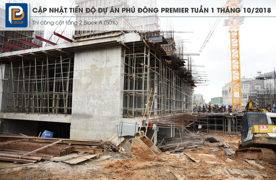 """Tiến độ xây dựng dự án căn hộ Phú Đông Premier tháng 10/2018 – Liên hệ<strong><span style=""""color: #ff0000;"""">0909.213.286</span></strong>xem thực tế dự án"""