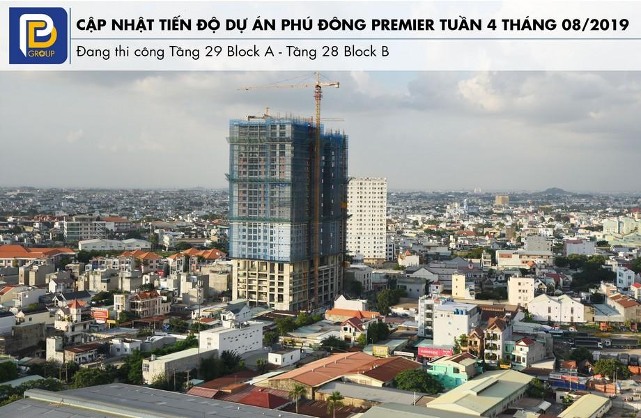 """Tiến độ xây dựng dự án căn hộ Phú Đông Premier tháng 08/2019 – Liên hệ<strong><span style=""""color: #ff0000;"""">0909.213.286</span></strong>xem thực tế dự án"""