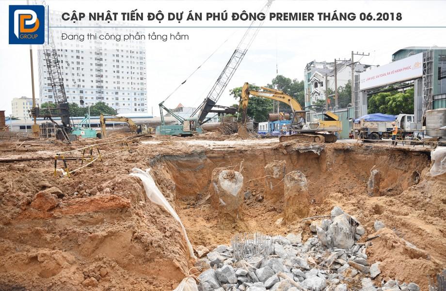 Tiến độ xây dựng dự án căn hộ chung cư Phú Đông Premier