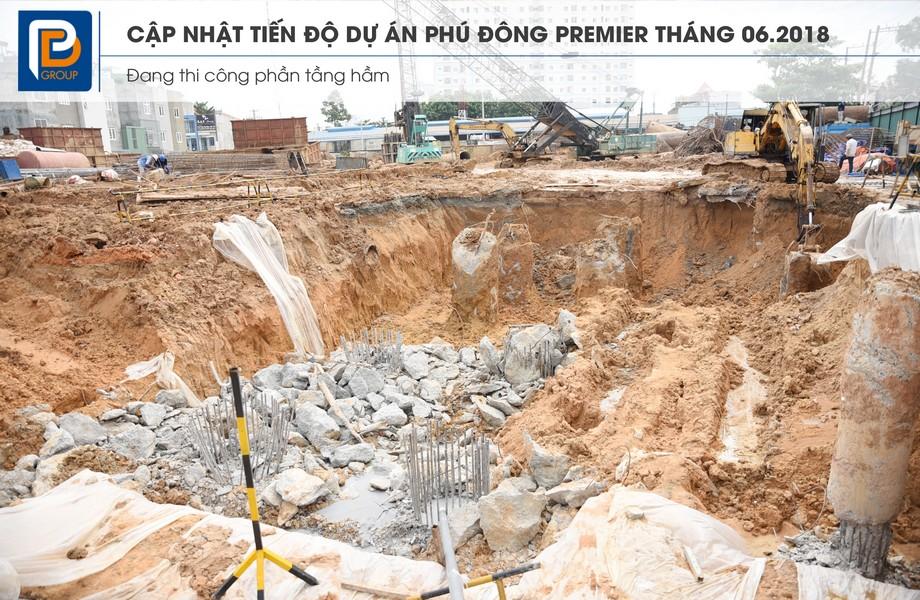 tiến độ xây dựng dự án căn hộ phú đông premier
