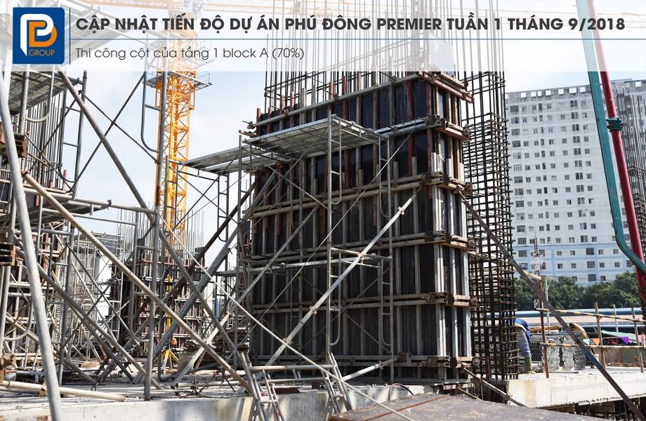 Tiến độ xây dựng dự án căn hộ Phú Đông Premier tháng 08/2018 – Liên hệ0909.213.286xem thực tế dự án