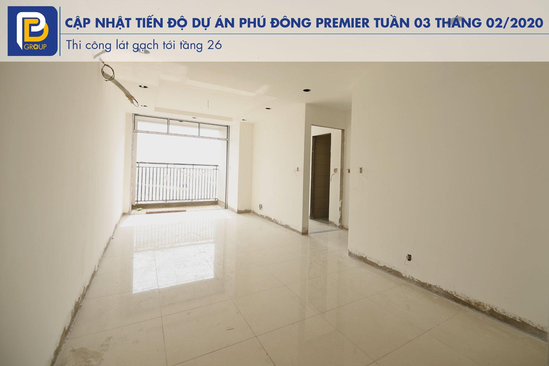 Tiến độ dự án Phú Đông Premier Tháng 02 năm 2020