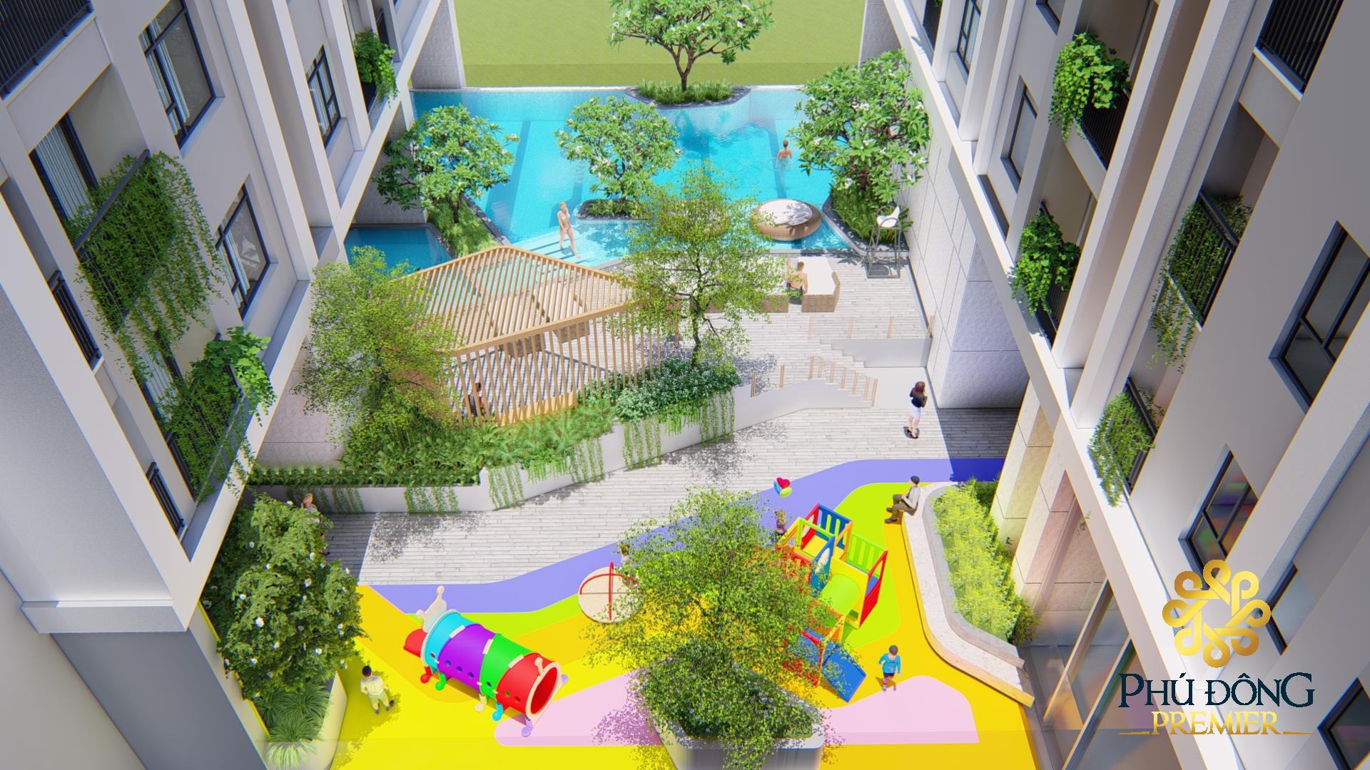 Khu vui chơi dành cho trẻ em là một trong những tiện ích quan trọng của dự án Phú Đông Sky Garden